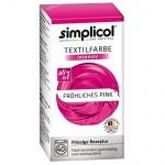 """Simplicol Textilfarbe intensiv all in 1 -Flüssige Rezeptur """" Fröhliches Pink"""" Neu!"""