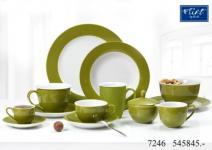 Flirt By R&B Geschirr-Serie Doppio olivgrün Material Kaffeetasse Doppio olivgrün