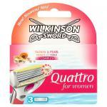 Wilkinson Sword Quattro for Women Klingen Papaya und Pearl, 3 Stück