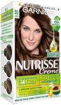 Garnier Nutrisse Creme Coloration Mocca Hellbraun 50 / Färbung für Haare für permanente Haarfarbe (mit 3 nährenden Ölen) - 1 Stück