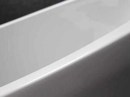 Freistehende Badewanne Valencia aus Acryl in weiß glänzend von Bädermax - Vorschau 4