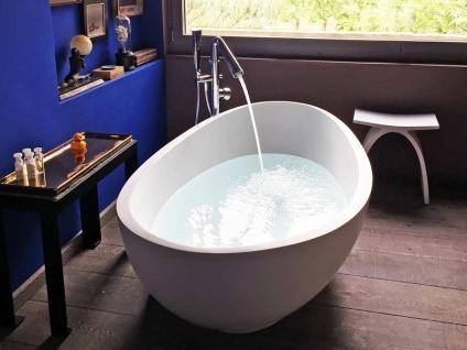 Freistehende Badewanne Vicenza aus Mineralguss in matt von Bädermax