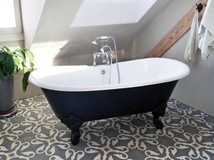 Freistehende Nostalgie Badewanne Bristol aus Guss in weiß von Bädermax