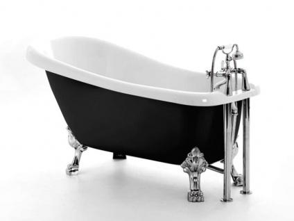 Freistehende Nostalgie Badewanne Oldham black aus Acryl in schwarz/weiß glänzend von Bädermax