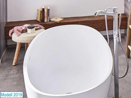 Freistehende Badewanne Piemont Mineralguss von Bädermax inkl. Ab-/Überlauf - Vorschau 4