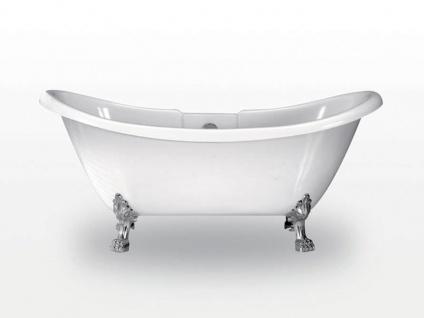 Freistehende Nostalgie Badewanne Worcester aus Acryl in weiß glänzend von Bädermax - Vorschau 2