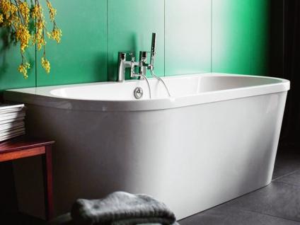 Freistehende Badewanne Mallorca aus Acryl in weiß glänzend von Bädermax