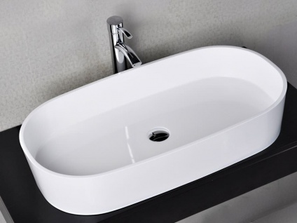 Waschbecken Musone aus Mineralguss in glänzend von Bädermax