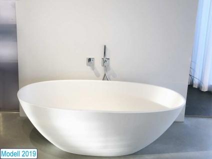 Freistehende Badewanne Piemont Medio aus Mineralguss von Bädermax inkl. Ab-/Überlauf - Vorschau 3