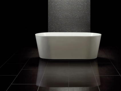 Freistehende Badewanne Murcia aus Acryl in weiß glänzend von Bädermax - Vorschau 3