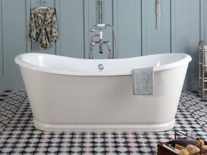 Freistehende Nostalgie Badewanne Birmingham big aus Guss in weiß von Bädermax
