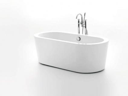 Freistehende Badewanne Almeria 168 aus Acryl in weiß glänzend von Bädermax - Vorschau 2