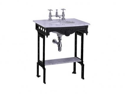 Nostalgie Waschbecken Georgian-Black aus Marmor-Aluminium in grau schwarz von Bädermax - Vorschau 2