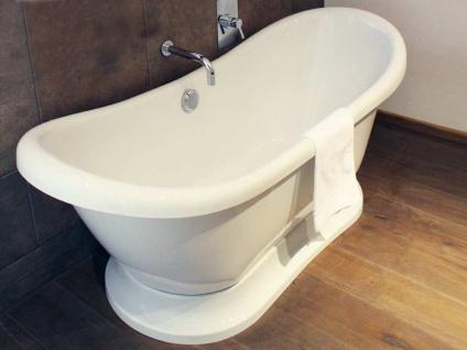 Freistehende Nostalgie Badewanne Worcester aus Acryl in weiß glänzend von Bädermax - Vorschau 4