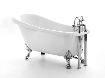 Freistehende Nostalgie Badewanne Oldham aus Acryl in weiß glänzend von Bädermax