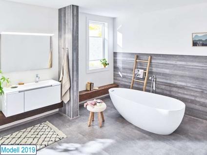 Freistehende Badewanne Luino Grande aus Mineralguss von Bädermax inkl. Ab-/Überlauf - Vorschau 2