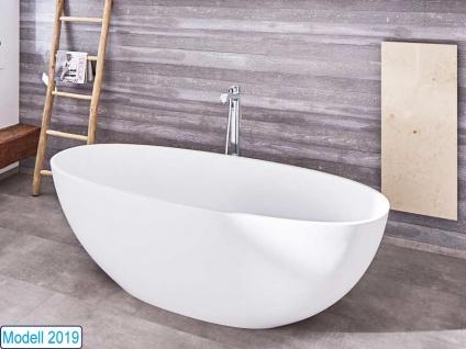 Freistehende Badewanne Piemont Mineralguss von Bädermax inkl. Ab-/Überlauf - Vorschau 2