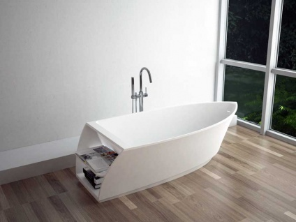Freistehende Badewanne Portofino aus Mineralguss in matt von Bädermax