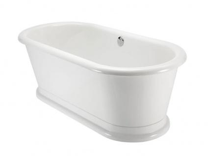 Freistehende Nostalgie Badewanne York Tondo aus Acryl in weiß glänzend von Bädermax