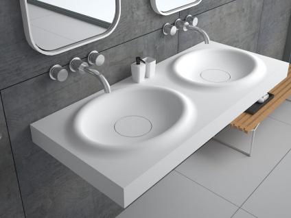 Waschbecken Belbo-Grande aus Mineralguss in matt von Bädermax - Vorschau 1