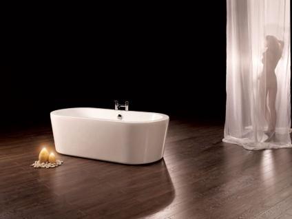 Freistehende Badewanne Almeria 149 aus Acryl in weiß glänzend von Bädermax