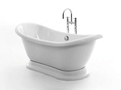 Freistehende Nostalgie Badewanne Worcester aus Acryl in weiß glänzend von Bädermax - Vorschau 3