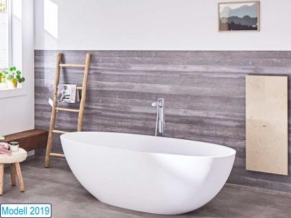 Freistehende Badewanne Piemont Mineralguss von Bädermax inkl. Ab-/Überlauf - Vorschau 1