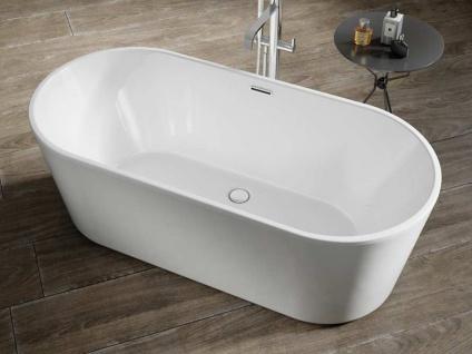 Freistehende Badewanne Murcia aus Acryl in weiß glänzend von Bädermax - Vorschau 2