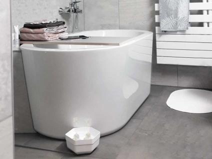 Freistehende Badewanne Almeria 149 aus Acryl in weiß glänzend von Bädermax - Vorschau 5