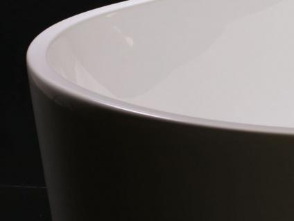 Freistehende Badewanne Murcia aus Acryl in weiß glänzend von Bädermax - Vorschau 4