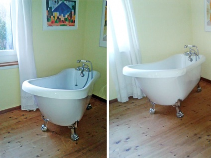 Freistehende Nostalgie Badewanne Oldham aus Acryl in weiß glänzend von Bädermax - Vorschau 4