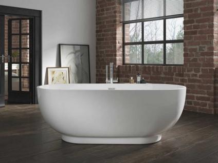 Freistehende Badewanne Sevilla aus Acryl in weiß glänzend von Bädermax