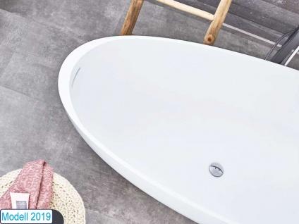 Freistehende Badewanne Luino Grande aus Mineralguss von Bädermax inkl. Ab-/Überlauf - Vorschau 3