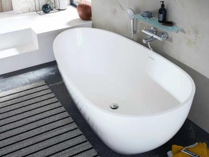 Freistehende Badewanne Luino Grande aus Mineralguss in glänzend von Bädermax