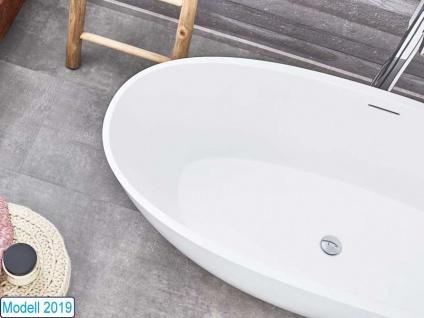 Freistehende Badewanne Piemont Medio aus Mineralguss in glänzend von Bädermax