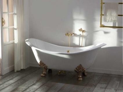 Freistehende Nostalgie Badewanne Edinburgh aus Guss in weiß von Bädermax