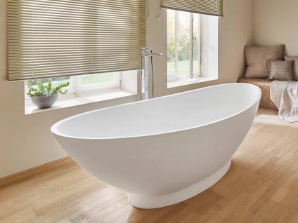 Freistehende Badewanne Como aus Mineralguss von Bädermax inkl. Ab-/Überlauf