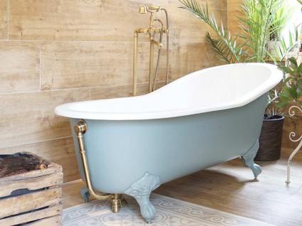 Freistehende Nostalgie Badewanne Liverpool big aus Guss in weiß von Bädermax