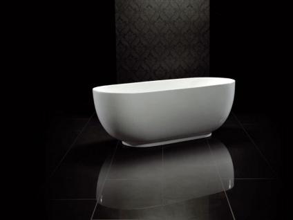 Freistehende Badewanne Sevilla aus Acryl in weiß glänzend von Bädermax - Vorschau 2