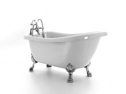 Freistehende Nostalgie Badewanne Portland aus Acryl in weiß glänzend von Bädermax