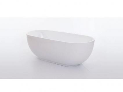 Freistehende Badewanne Sevilla aus Acryl in weiß glänzend von Bädermax - Vorschau 5
