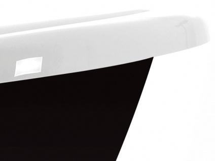 Freistehende Nostalgie Badewanne Blackpool aus Acryl in schwarz/weiß glänzend von Bädermax - Vorschau 2