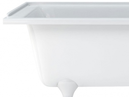 Freistehende Nostalgie Badewanne Derby small aus Acryl in weiß glänzend von Bädermax - Vorschau 5
