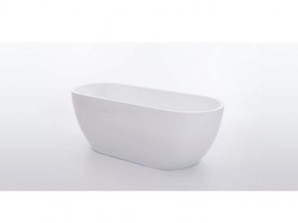 Freistehende Badewanne Valencia aus Acryl in weiß glänzend von Bädermax - Vorschau 5