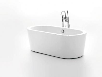Freistehende Badewanne Almeria 149 aus Acryl in weiß glänzend von Bädermax - Vorschau 2