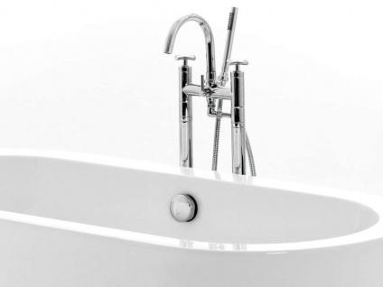 Freistehende Badewanne Almeria 149 aus Acryl in weiß glänzend von Bädermax - Vorschau 3