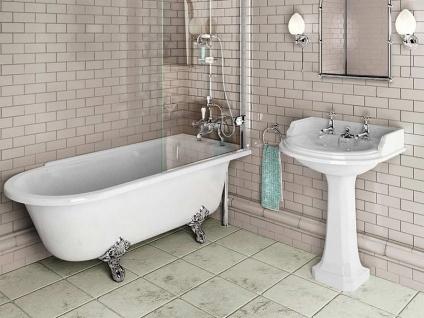 Freistehende Nostalgie Badewanne Derby Big aus Acryl in weiß glänzend von Bädermax - Vorschau 3