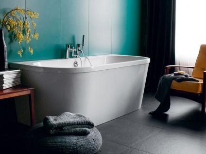 Freistehende Badewanne Mallorca aus Acryl in weiß glänzend von Bädermax - Vorschau 2