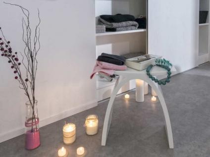 Badezimmer-Hocker aus Mineralguss - weiß glänzend - Modell Pianoro - Bädermax - Vorschau 5