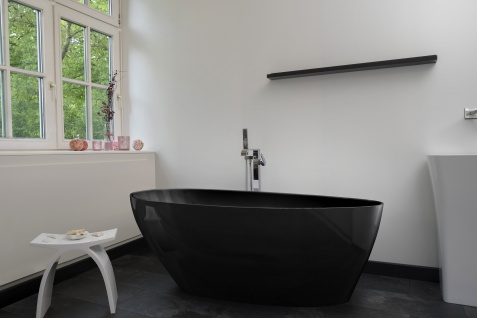 Freistehende Badewanne Modena schwarz